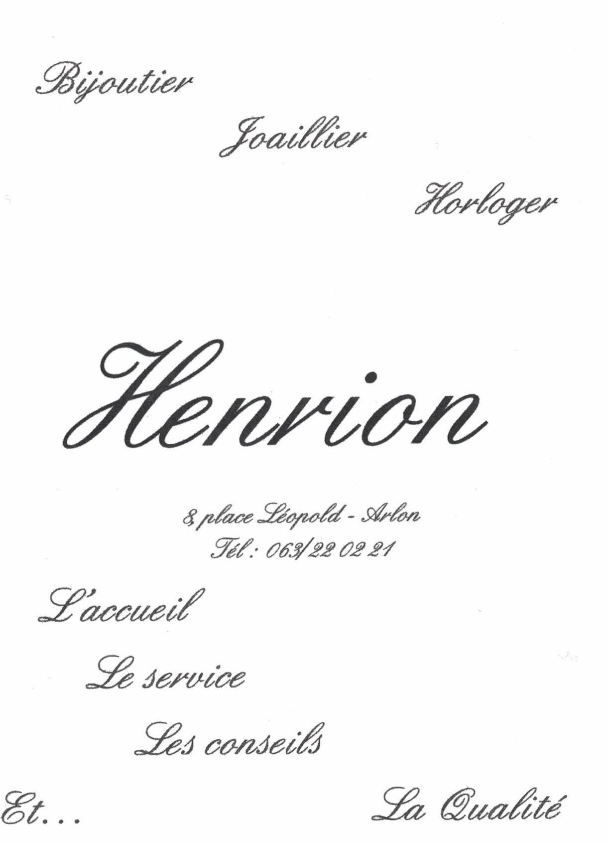 Bijouterie Henrion Arlon