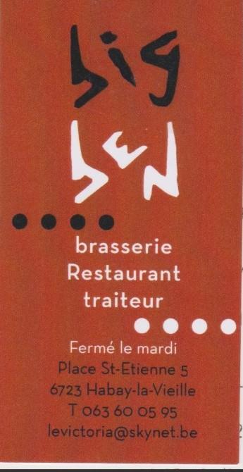 Brasserie restaurant BIG BEN - Habay-La-Vieille