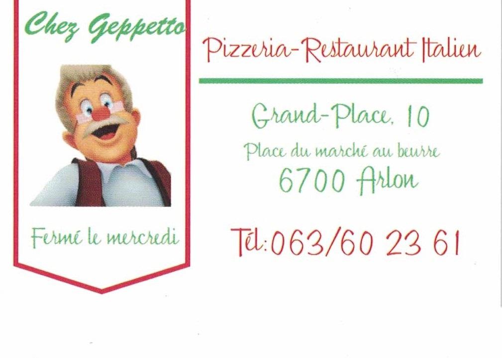 Chez Geppetto - Pizzeria-Restaurant Italien -Arlon