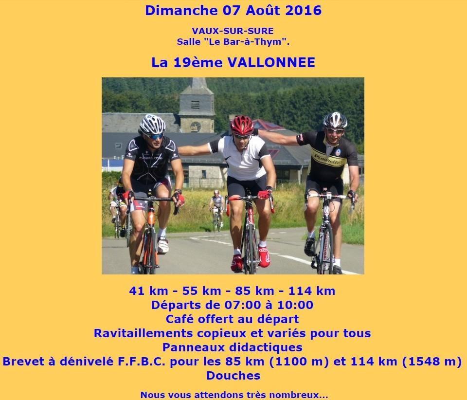 Cyclo à Vaux-Sur-Sure le 0708/16