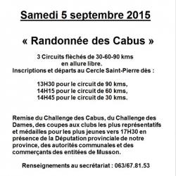 Cyclo Mussy-La-Ville le 05/09/2015