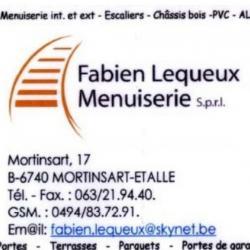 Fabien Lequeux - Menuiserie - Mortinsart -Etalle