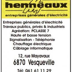 HENNEAUX Electricité Vesqueville