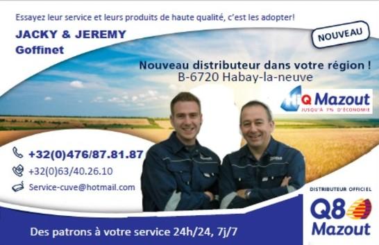 Jacky & Jérémy Goffinet (Mazout - Habay-La-Neuve)