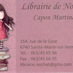 Librairie du Nochet  -  Sainte Marie-sur-Semois