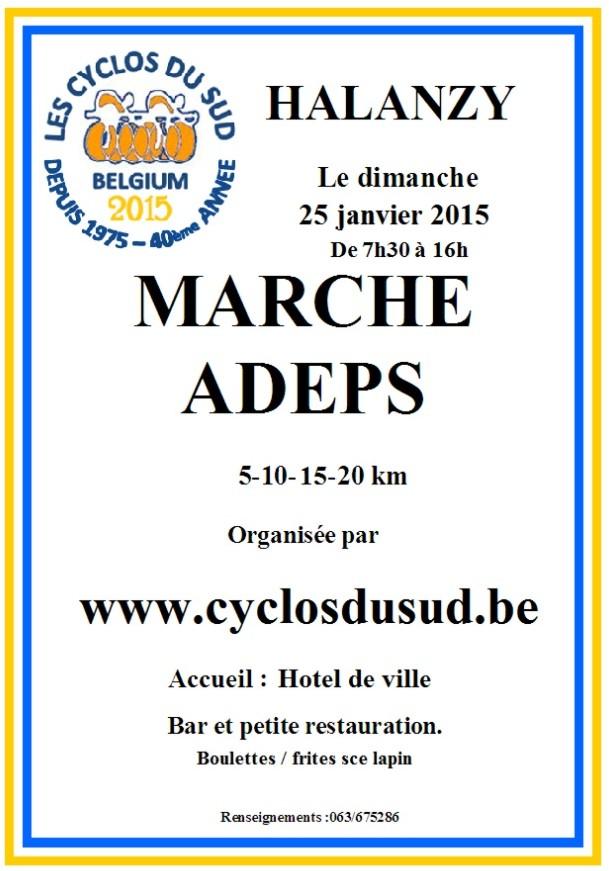 Marche Adeps Halanzy 250114