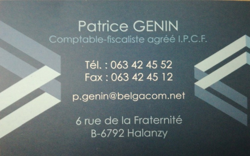 Patrice GENIN  Comptable -fiscaliste HALANZY