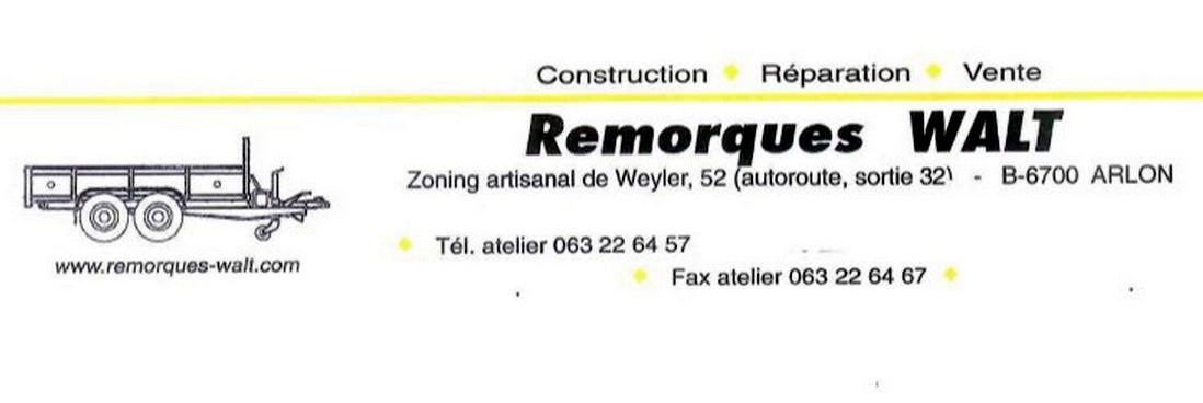Remorques WALT - Arlon