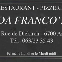 Restaurant Pizzeria DA FRANCO'S - Arlon