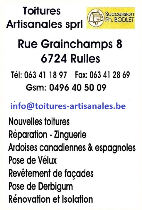 Toitures Artisanales - Rulles