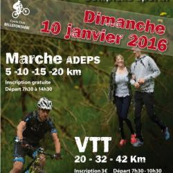 VTT  et Marche Adeps à Bellefontaine le 100116