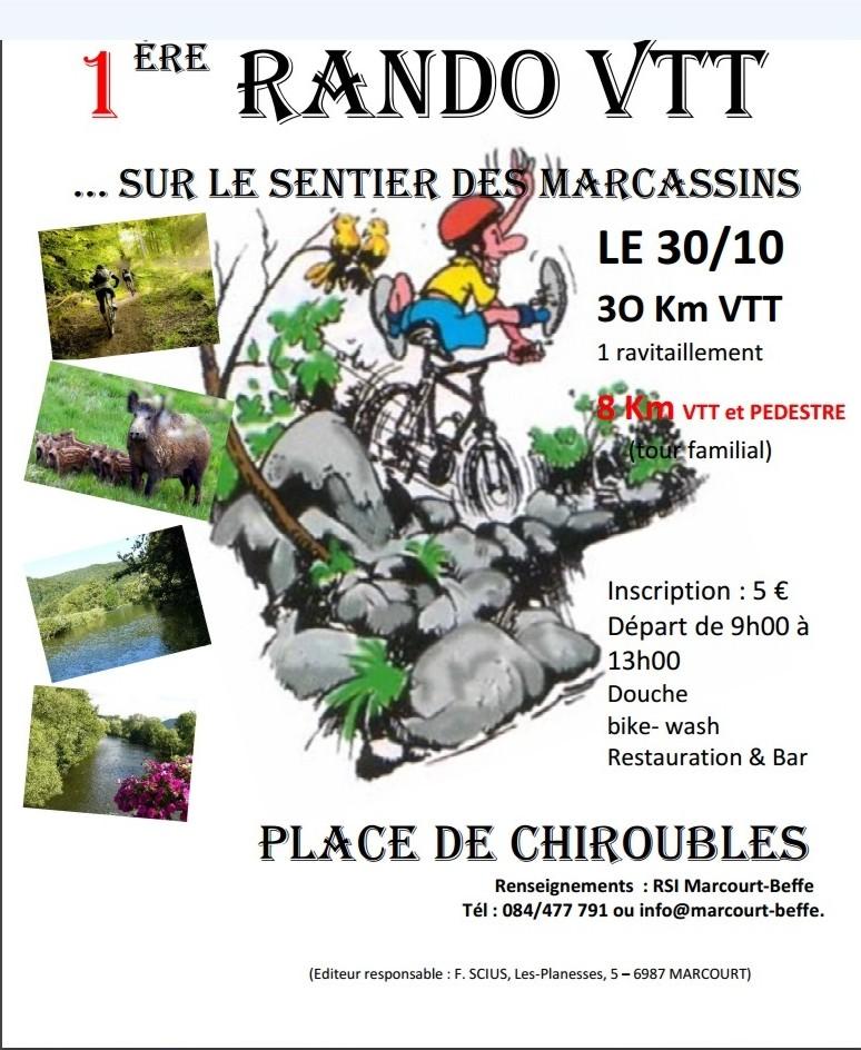 VTT et Marche à Marcourt (Rendeux) le 301016