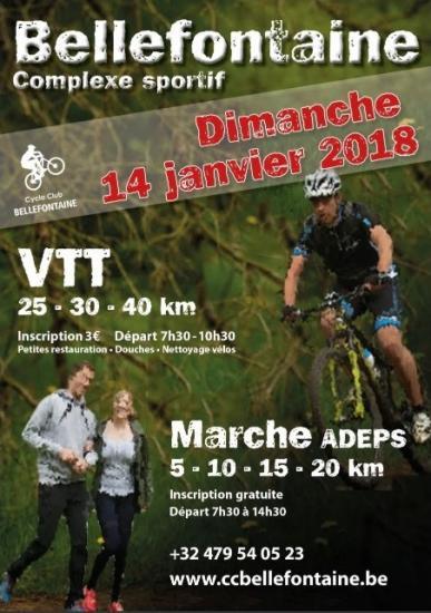 VTT + Marche à Bellefontaine 140118