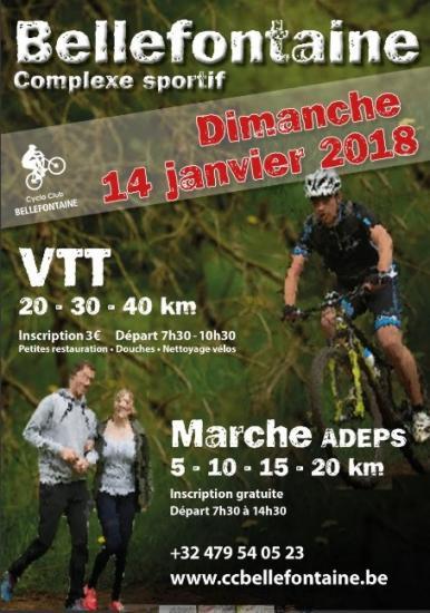 VTT + Marche Adeps à Bellefontaine le 14/01/18