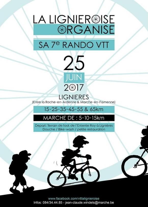 VTT + Marche à LIGNIERES (Marche) le 250617
