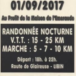 VTT+Marche nocturne à LIBIN le vendredi 010917