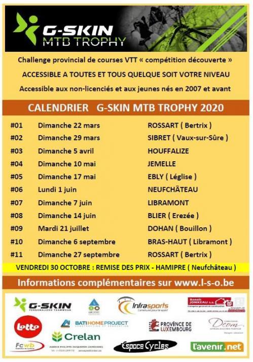 2020 calendrier G Skin MTB Trophy