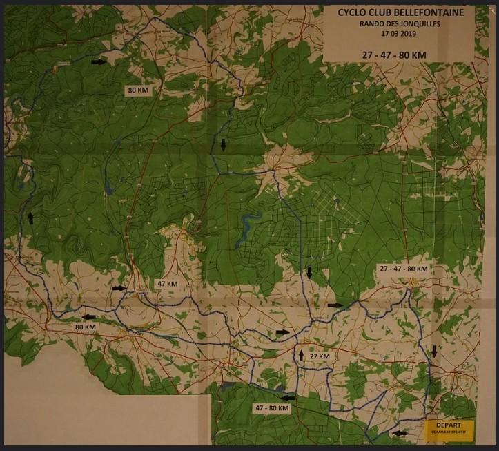 Carte des parcours des jonquilles 170319