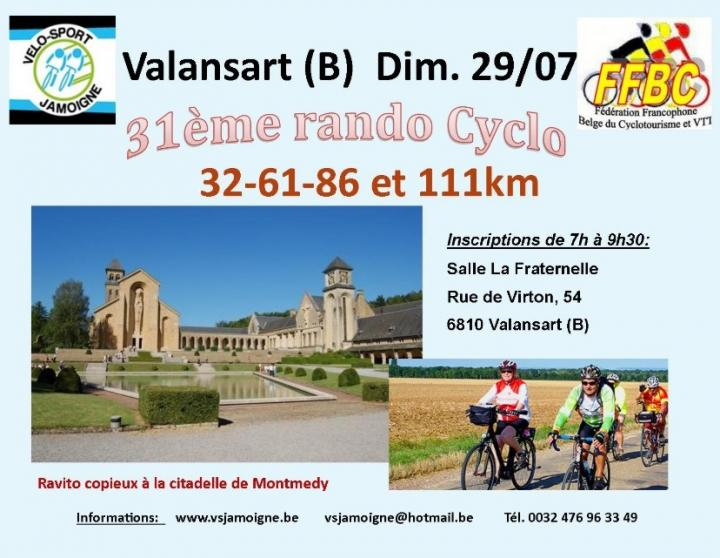 Cyclo a valansart jamoigne le 290718