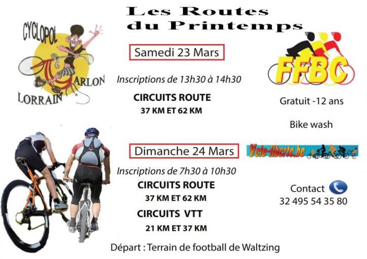 Cyclos et vtt a waltzing arlon les 23 et 240320
