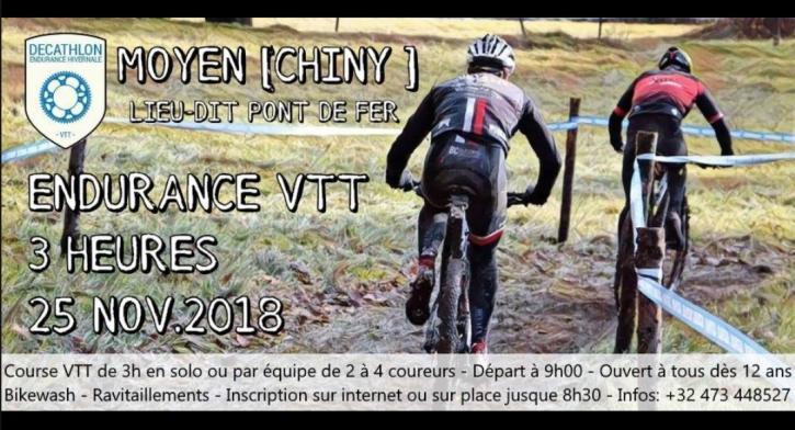 Endurance vtt 3h moyen chiny le 251118