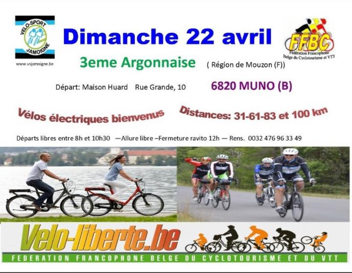 Rando cyclo du v s jamoigne a muno le 220419
