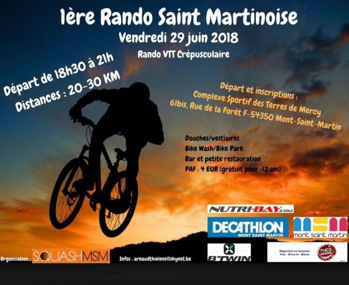 Rando vtt crepusculaire mont saint martin le 290620