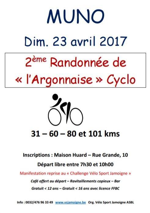Randonnee cyclo a muno florenville le 23042019