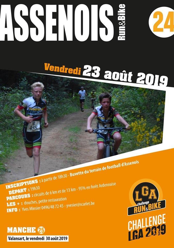 Run bike a assenois le 230820