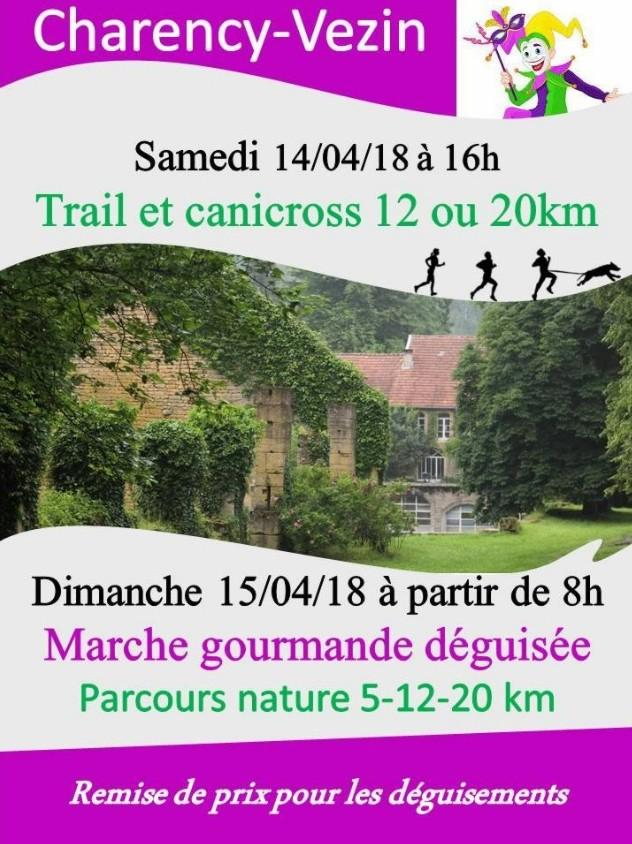 Trail et canicroos a charency vezin le samedi 140418