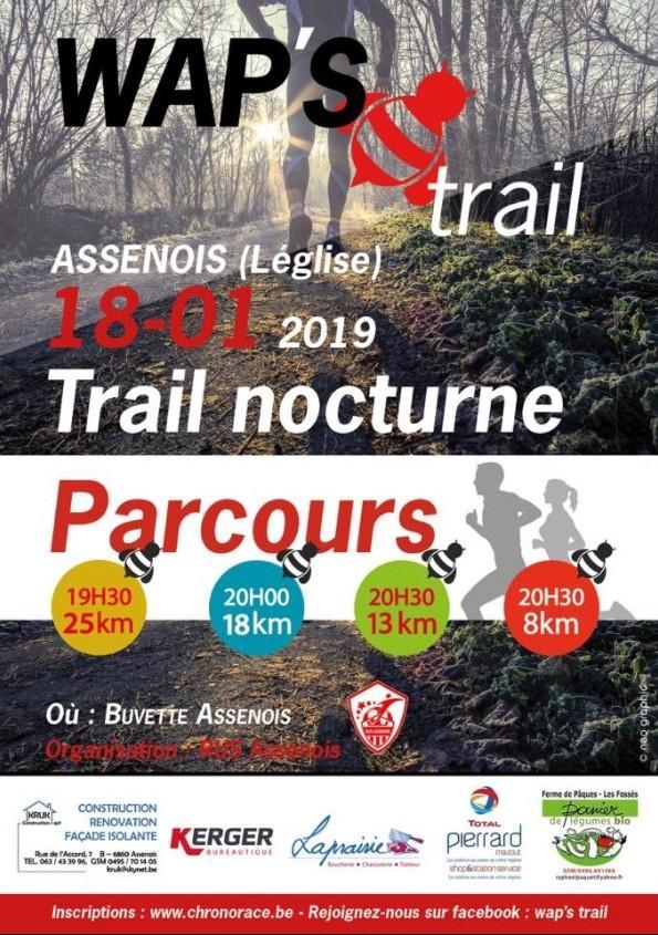 Trail nocturne a assenois leglise le 180119