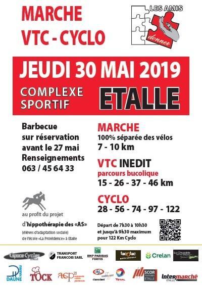 Vtc cyclo marche a etalle le jeudi 300519