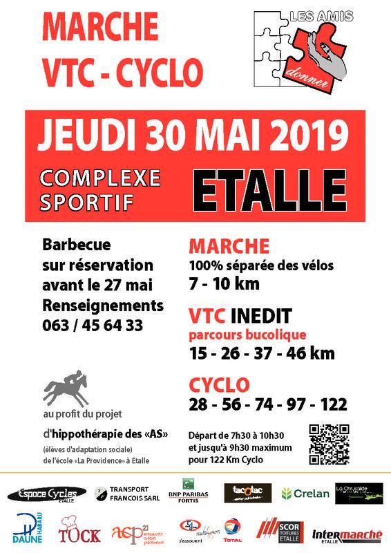 Vtc cyclo marche a etalle le jeudi 300520