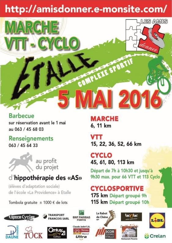 Vtt cyclos marche a etalle le 050516