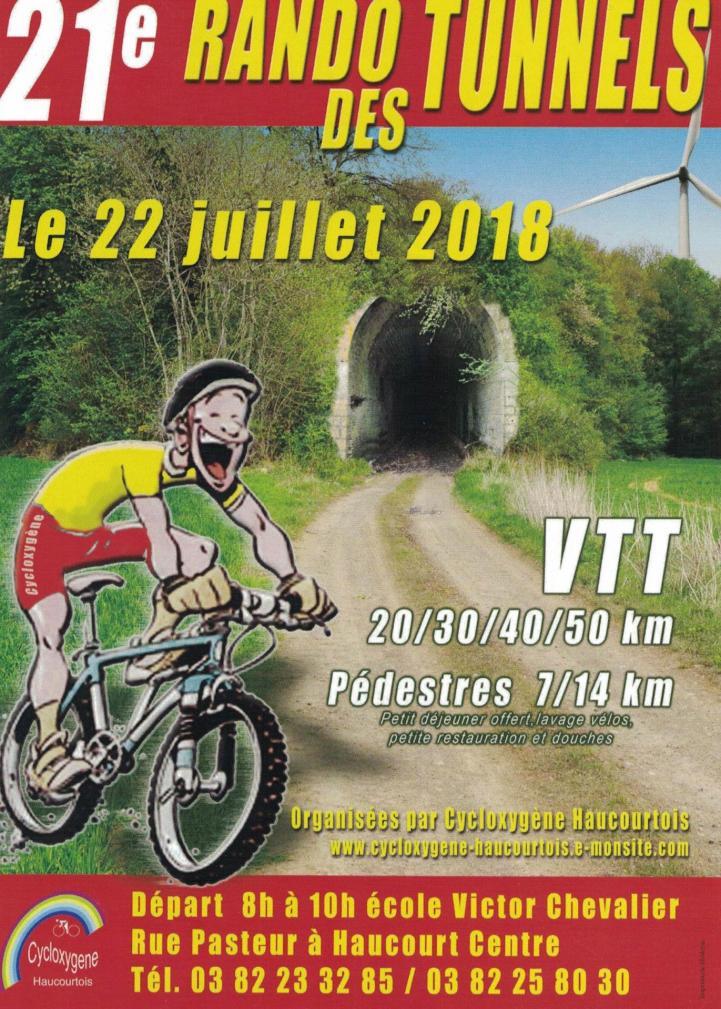 Vtt marche a haucourt le 220718