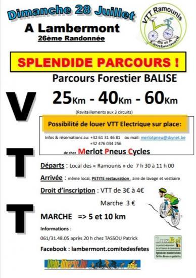 Vtt marche a lambermont florenville le 280719