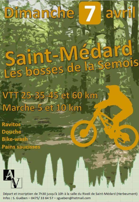 Vtt marche a saint medard herbeumont le 07042019