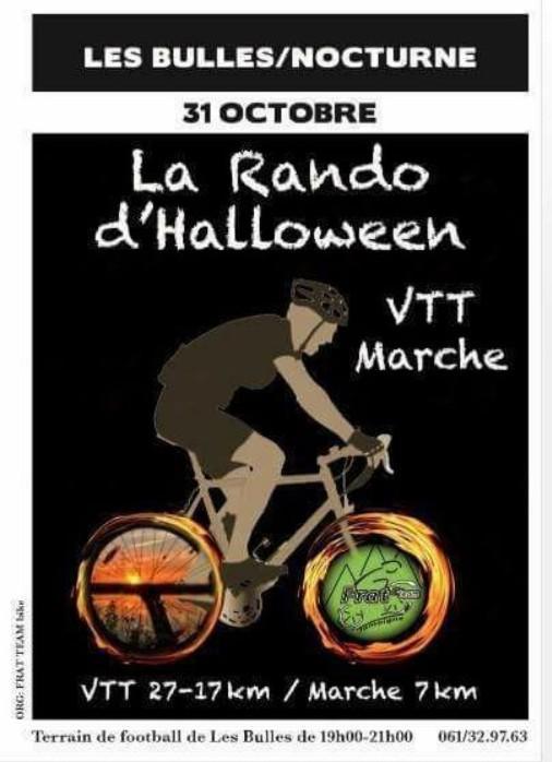 Vtt marche nocturne la rando halloween affiche a les bulles le 311017